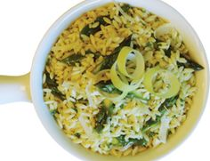 Family Fave at the Shihadeh house! Orzo with Lemony Leek Sauce