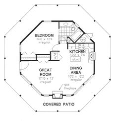 Floor Plan Hexagon House Contemporary Home 059H0142