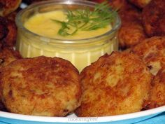 Newfoundland Cod Cakes With Sauce Hollandaise