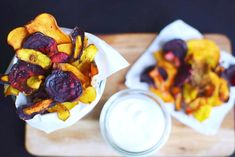 Colorful root veggie chips
