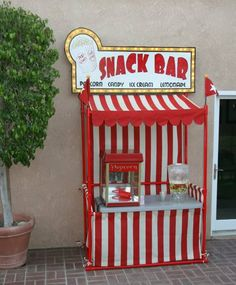 A how to on building this adorable snack bar via Cracker Jack Theater