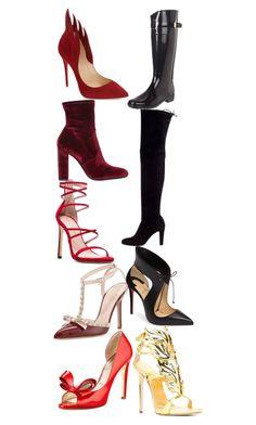 """Cheryl Blossom Shoes"" by taught-to-fly19 on Polyvore featuring moda, Kate Spade, Lauren Ralph Lauren, Stuart Weitzman, Valentino, Christian Louboutin, Steve Madden e Giuseppe Zanotti"