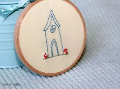 Home embroidery hoop wall art wall hanging wall by SqueezeCuddles, $33.00