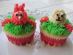Easter Cupcakes w/ step-by-step tutorial
