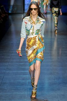 Scarf prints  Dolce & Gabbana Spring/Summer 2012 Ready to wear