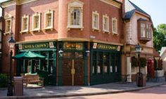 The British pub in Epcot - where our drinking around the world always ends.  We can't start on that side because we'd never get anywhere else - we'd just stay at the pub.