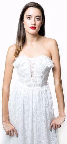 2498587df1 White Lace Sweetheart Neckline Maxi Dress