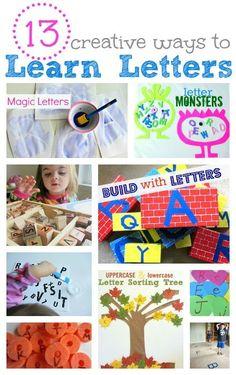 fun ways to learn letters. #ece #preschool