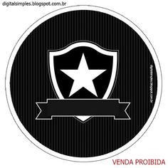 Festa de Aniversário para Imprimir, tema futebol time Botafogo.