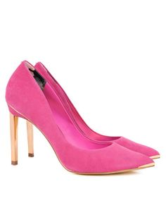 Metal pointed court shoes - Neon Pink | Shoes | Ted Baker www.MadamPaloozaEmporium.com www.facebook.com/MadamPalooza