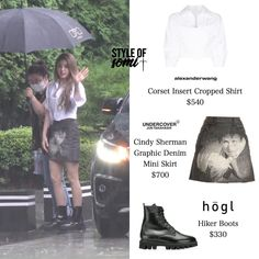 Kpop Fashion Outfits, Chic Outfits, Denim Mini Skirt, Mini Skirts, Airport Style, Airport Fashion, Jeon Somi, Jennie Blackpink, Dark Fantasy Art