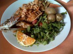 fried fish and shrimp platter, homemade