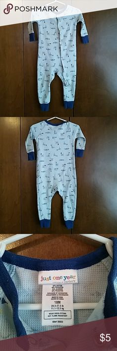 One piece thermal outfit Blue outfit with dragons and castles. Great condition Carter's One Pieces Bodysuits