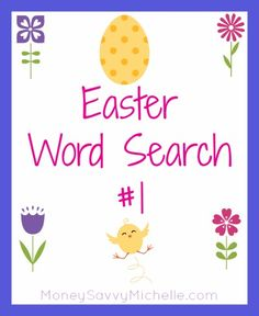 Easter Word Search #1 http://www.moneysavvymichelle.com/easter-word-search-1/ #Easter #printable