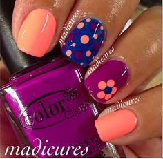 Ideas shellac pedicure designs toenails polka dots for 2019 Get Nails, Fancy Nails, Pretty Nails, Nail Designs Spring, Nail Art Designs, Pedicure Designs, Pedicure Ideas, Nails Design, Nail Ideas