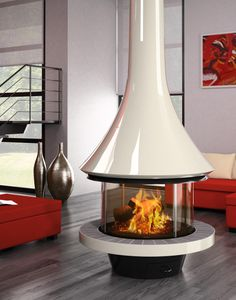 Modern fireplace: find a modern fireplace in our collection, heat and decorate your living room with a modern fireplace. Find a modern fireplace or a free standing wood stove among the large range of JC Bordelet contemporary fireplaces and stoves. Contemporary Stairs, Contemporary Wallpaper, Rustic Contemporary, Contemporary Architecture, Contemporary Interior, Contemporary Building, Contemporary Apartment, Contemporary Chandelier, Contemporary Office