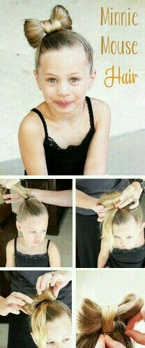 Simple, easy & step by step ( tutorial ) guide on a DIY Minnie Mouse hair style for little girls, kids or yourself. By G;)