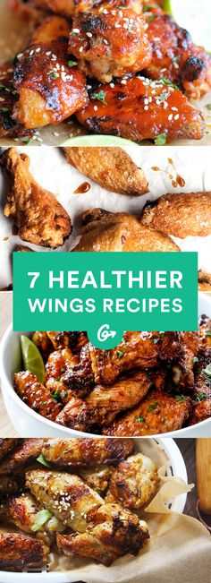 7 Healthier Wing Recipes for Game Day #wings #superbowl #recipes http://greatist.com/eat/healthy-wing-recipes
