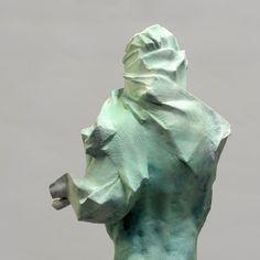 Grzegorz Gwiazda Abstract Sculpture, Sculpture Art, Sculpture Ideas, Contemporary Sculpture, Contemporary Art, Installation Street Art, Modern Metropolis, Stone Sculpture, Figurative Art