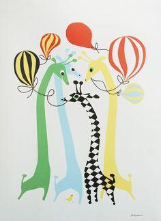 Littlephant Giraffe Poster by Camilla Lundsten