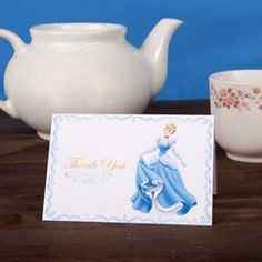 Cinderella Thank You Cards! Cinderella FREE PRINTABLE diy Disney princess party theme ideas, Decor, Favors, Centerpieces, Crafts and Recipes