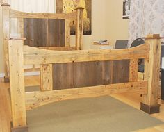 experimenting with wood bed frames. not sure.