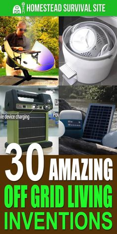 Nowadays, there are all sorts of amazing gadgets and inventions that make off-grid living easier than ever. Homestead Survival, Wilderness Survival, Camping Survival, Outdoor Survival, Survival Prepping, Emergency Preparedness, Survival Gear, Survival Skills, Survival Supplies