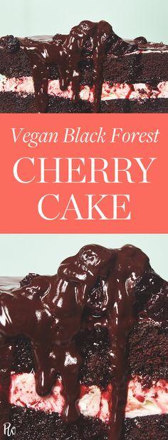 Vegan Black Forest Cherry Cake