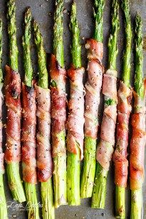Garlic Butter Prosciutto Wrapped Asparagus - Cafe Delites
