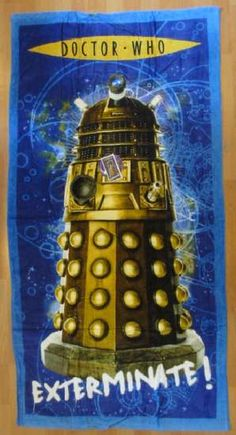 doctor who, TV, bath towel