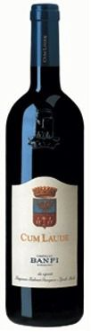 Castello Banfi Cum Laude 2008 $31.27 - powerful body, wide and soft tannins thanks to the good ripening in the vineyard.   *Please note: Prices may be not  guaranteed. Please check our website, www.TheWineGuyLi.com for today's price. We promote specials with our SuperSaver card periodically. Subject to Inventory Depletion.*