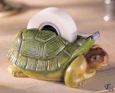 FIGI Turtle Tape Dispenser I must have one! Chi Eta Phi, Turtle Time, Tiny Turtle, Cute Turtles, Sea Turtles, Turtle Figurines, Turtle Gifts, Tortoise Turtle, Tape Dispenser