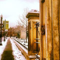 Washington Park Gates Snowball Fight OTR
