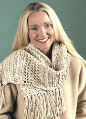 Ravelry: Openwork Scarf (archived) pattern by Caron Design Team