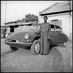 """bintphotobooks: """" La DS et Son Ombre, 1972, by Sory Sanlé. From the book and exhibition Sory Sanlé – Volta Photo 1965-1985..."""