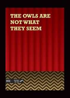 David Lynch's Twin Peaks poster