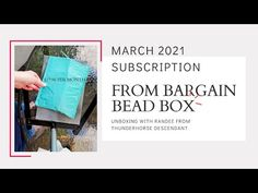 March 2021 Bargain Bead Box Unboxing with Randee from Thunderhorse Descendant - YouTube Youtube Live, Beaded Boxes, Descendants, My Etsy Shop, March, Beads, Beading, Bead, Pearls
