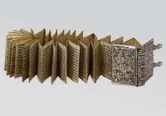 Esther scroll, folded and bound in a silver book binding, Italy, 18th century.