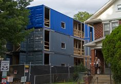 https://flic.kr/p/qkBZRA | f321038472 | The first shipping container residences built in WDC on 7th St. NE