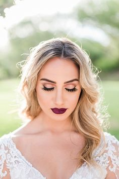 Dramatic and changeable bridal makeup with a deep red lip Gardening might be a highly Bridal Makeup Red Lips, Dramatic Bridal Makeup, Best Bridal Makeup, Red Lip Makeup, Wedding Makeup Looks, Bridal Beauty, Boho Wedding Makeup, Natural Wedding Makeup, Boho Makeup