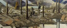 extract from The Menin Road by Paul Nash collection of the Imperial War Museum Military Art, Military History, Ww1 Art, Vintage Dance, English Artists, World War One, Modern Warfare, Wwi, Fine Art Prints