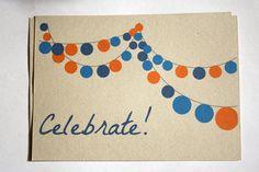Invitations fête - papier kraft. €9,00, via Etsy.