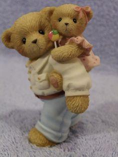 A Father's Love Never Lets You Down Prototype Cherished Teddies My Teddy Bear, Cute Teddy Bears, Love Bear, Pug Love, Monkey Doll, Cow Decor, Teddy Bear Pictures, Bear Card, Charlie Bears