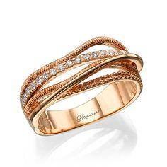 Único anillo de compromiso anillo de Arte Deco por Gispandiamonds