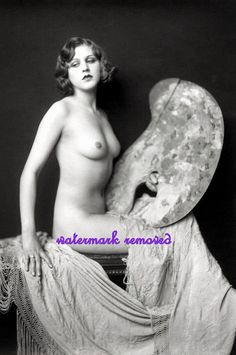 Old Vintage Antique Art Deco c1920's Nude by mississippimadame, $5.00