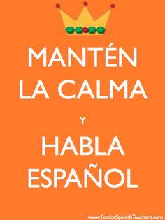 Spanish Poster - Ser Bilingue | School | Pinterest | Print ...