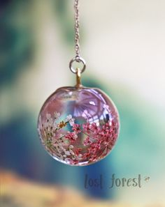 Queen Anne's Lace Globe Necklace - Lost Forest