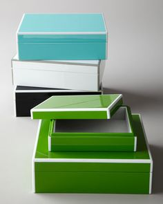 """""""Elle"""" Storage Box Set by Swing Design at Horchow."""
