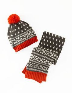 Knitted Hat & Scarf Set 28124 Hats, Scarves & Gloves at Boden