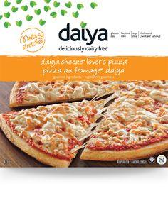 Daiya dairy-free cheese pizza with gluten-free pizza crust (also soy free) Dairy Free Pizza, Dairy Free Cheese, Dairy Free Diet, Dairy Free Recipes, Vegan Recipes, Gluten Free, Vegan Food, Cheddar Mac And Cheese, Vegan Mac And Cheese